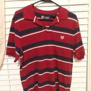 Chaps Red White Blue Stripe Short Sleeve Shirt.